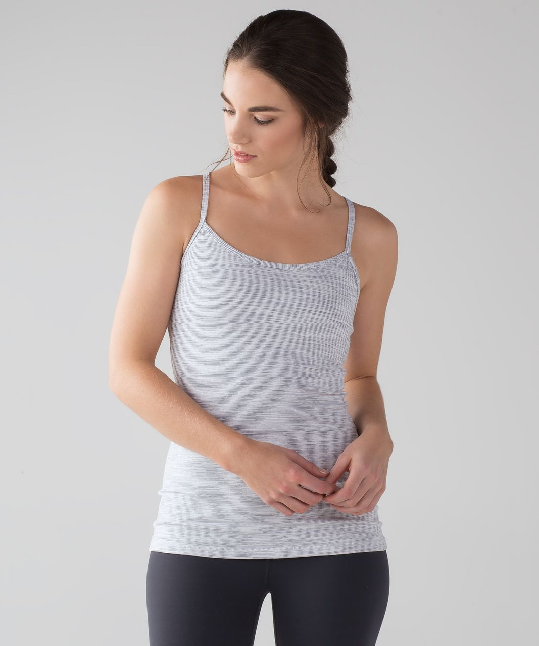 Lululemon Power Y Tank (Luon) - Wee Are From Space Nimbus Battleship
