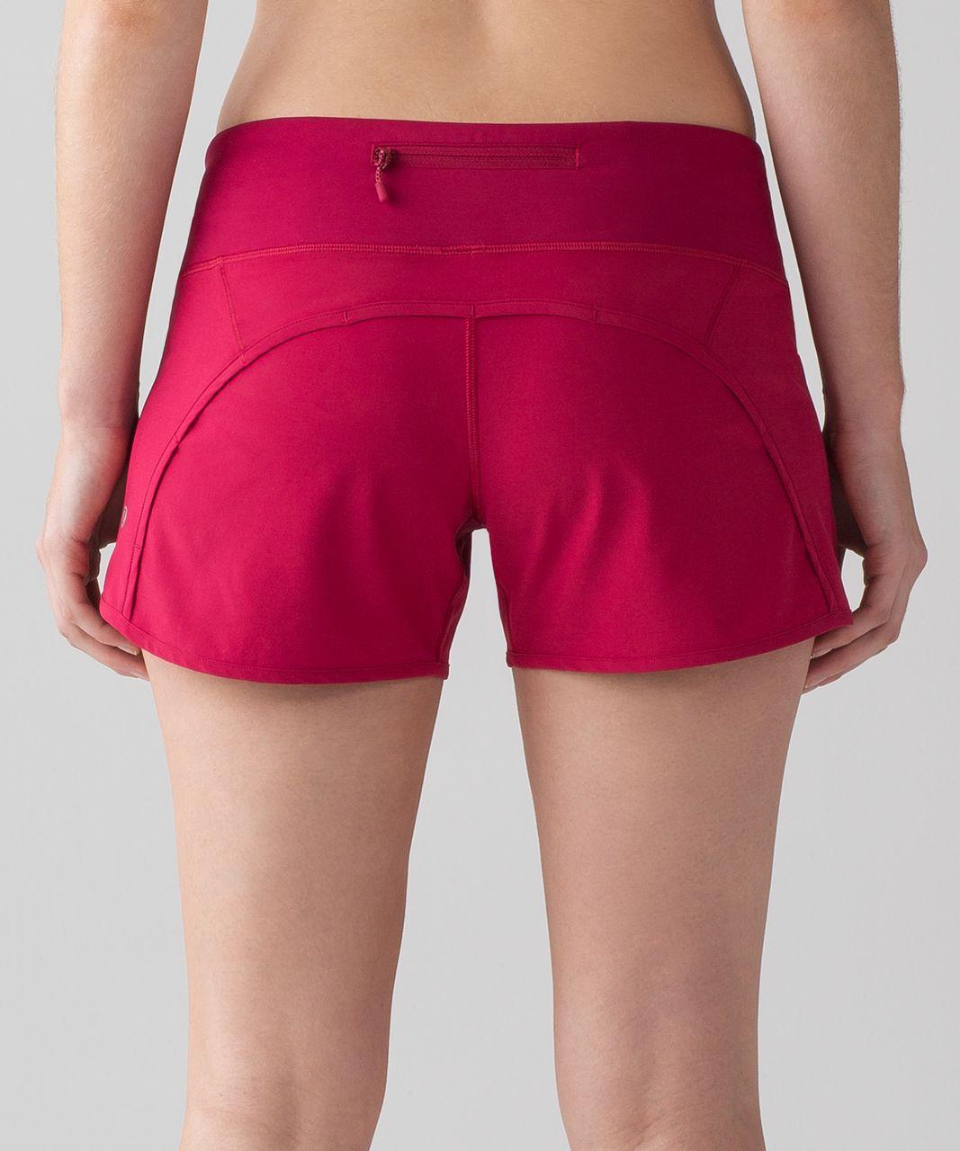 "Lululemon Run Times Short *4-way Stretch 4"" - Ruby Red"