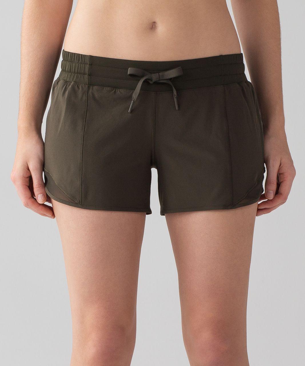 "Lululemon Hotty Hot Short (Long 4"") - Dark Olive"