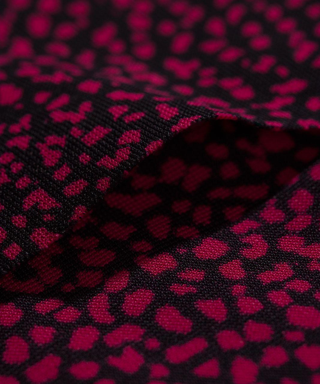 Lululemon Namastay Put Hipster - Chakra Print Ruby Red Black