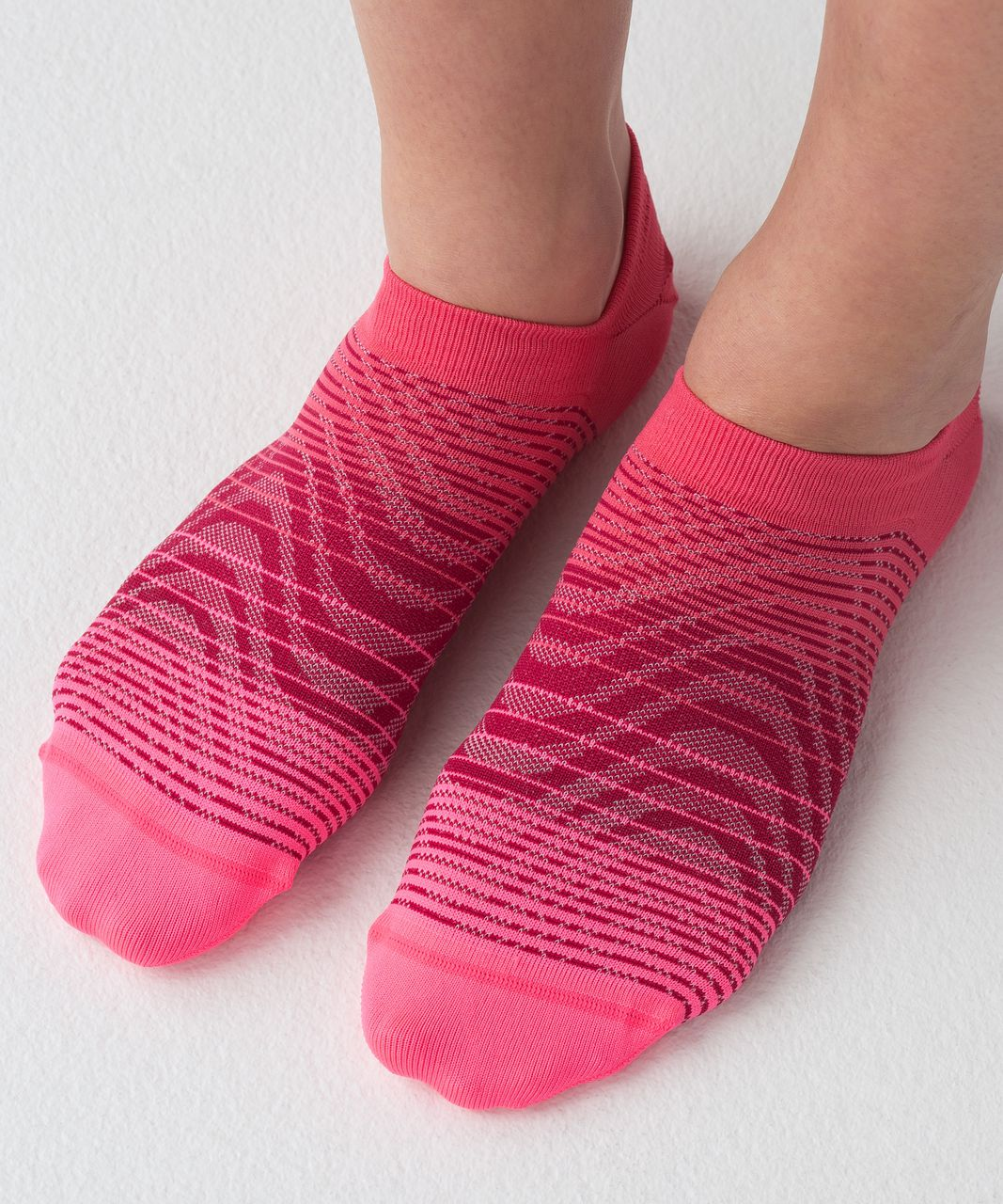 Lululemon Play All Day Sock - Neon Pink / Ruby Red / Lip Gloss