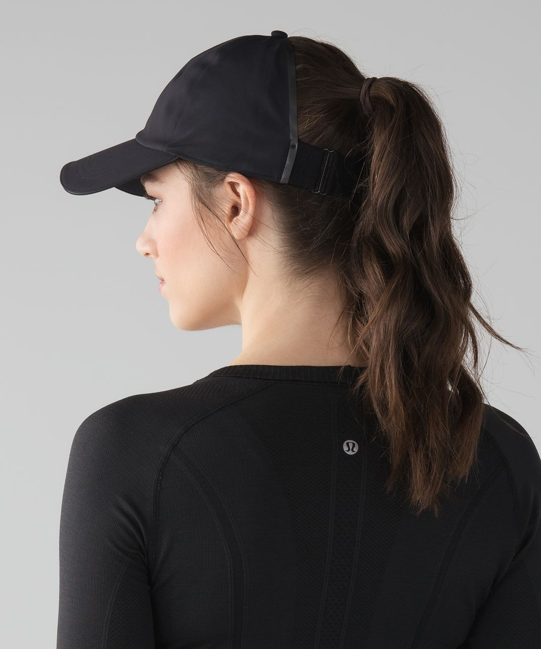 Lululemon Baller Hat Run  Ponytail - Black - lulu fanatics 9a2a47cf666