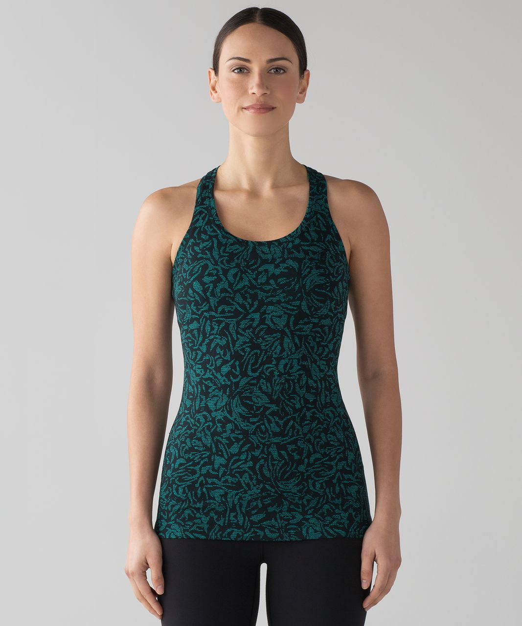 Lululemon Cool Racerback II - Thrive Viridian Green Black