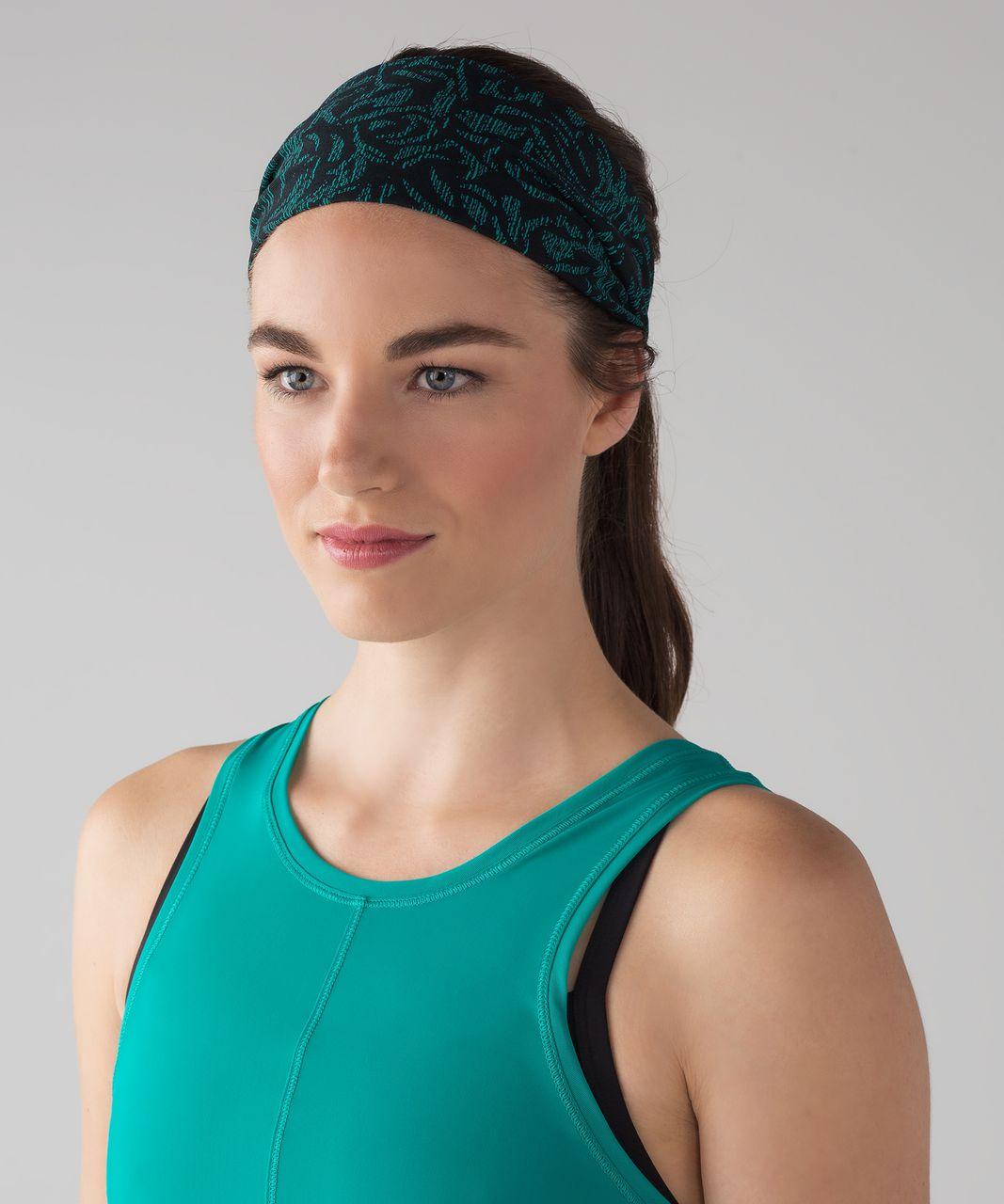 Lululemon Fringe Fighter Headband - Thrive Viridian Green Black / Heathered Black