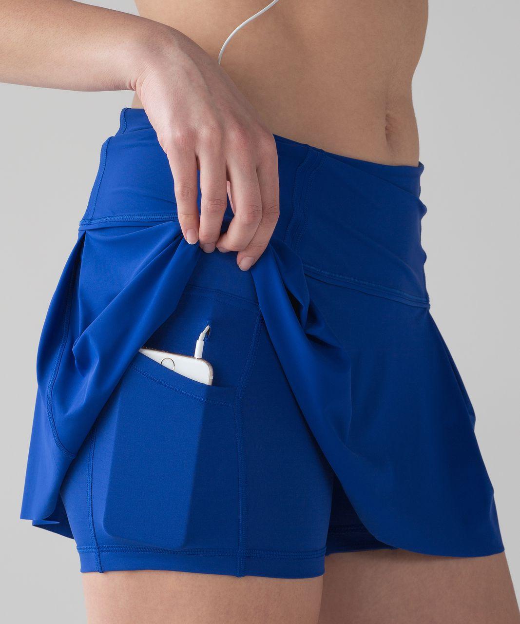 """Lululemon Lost In Pace Skirt (Regular) (13"""") - Jet Stream"""