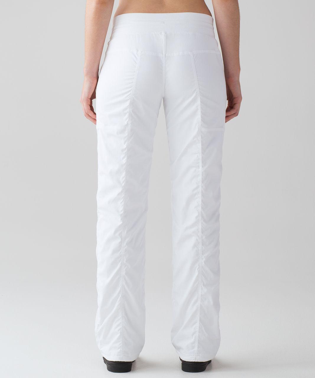 """Lululemon Dance Studio Pant III (Regular) *Lined 32"""" - White"""