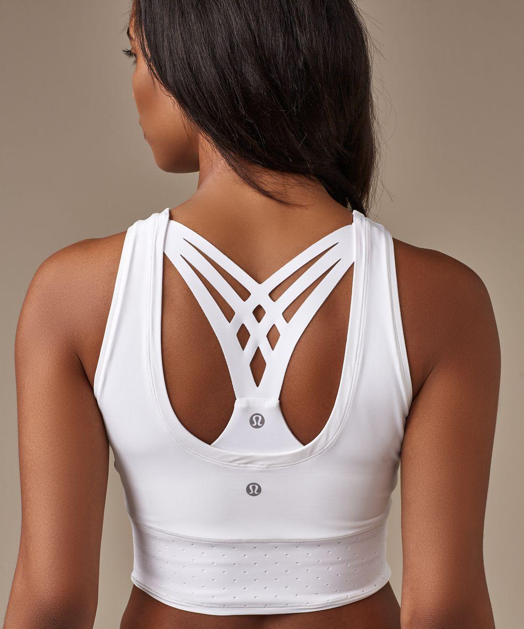 white sports bra crop top