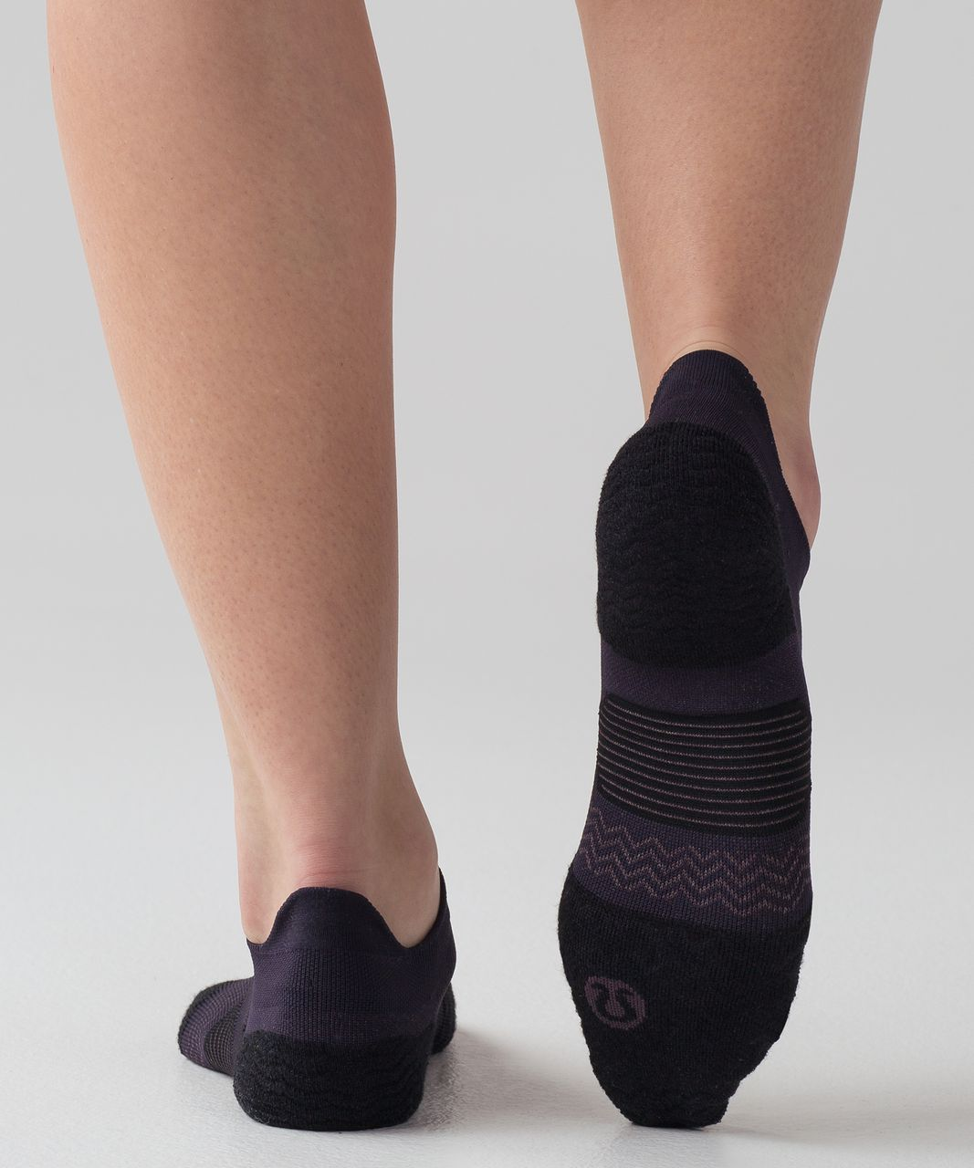 Lululemon Speed Sock *Silver - Black Grape / Black Currant