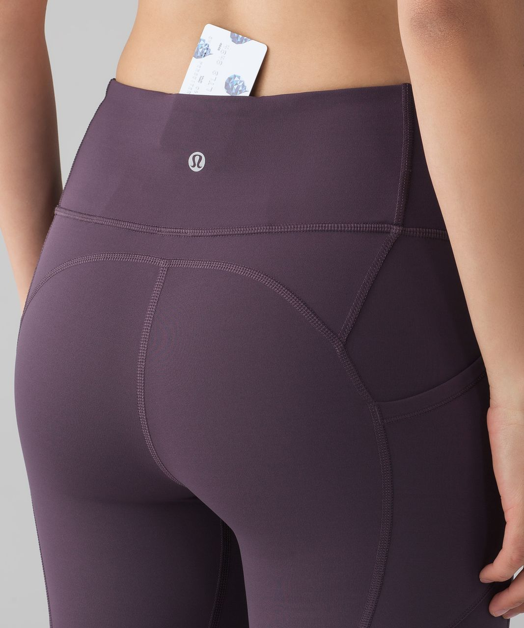 """Lululemon All The Right Places Crop II (23"""") - Black Currant"""