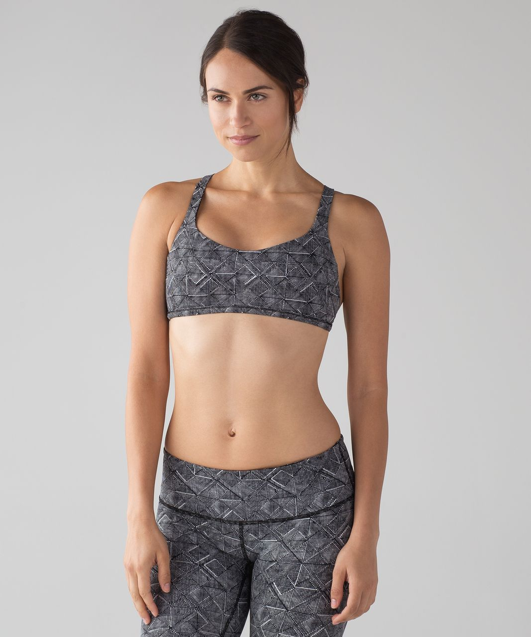 68751a1de2 Lululemon Free To Be Zen Bra - Formation Alpine White Black - lulu fanatics