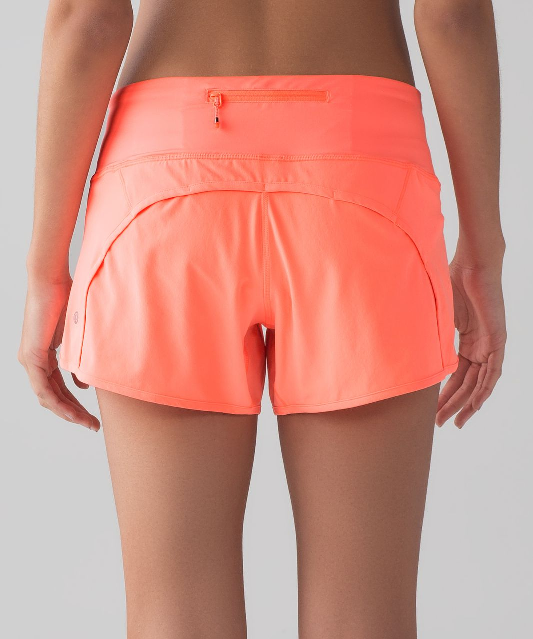 "Lululemon Run Times Short (4-way Stretch 4"") - Pop Orange"