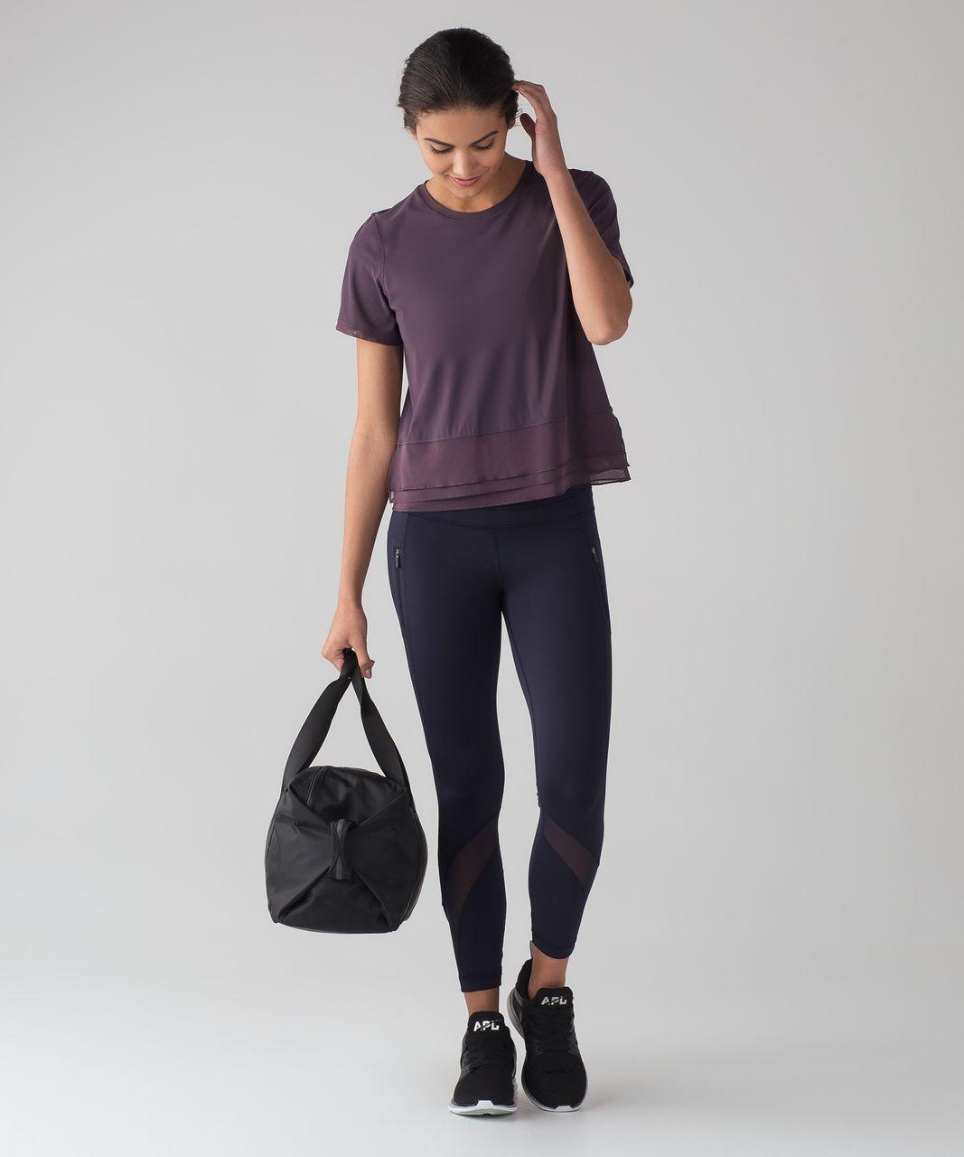 Lululemon Sole Training Short Sleeve (UV Protection) - Black Currant