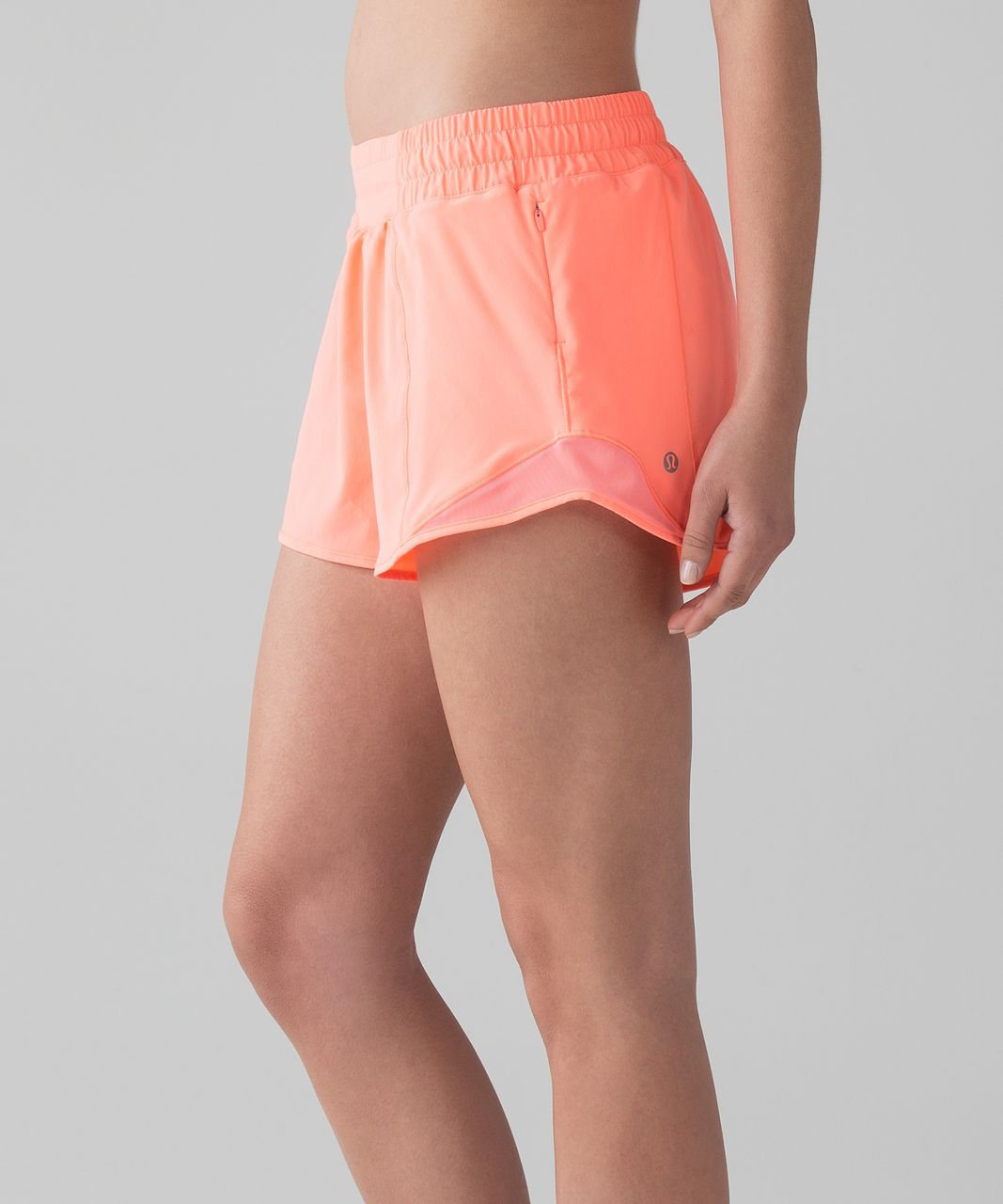 "Lululemon Hotty Hot Short II (Long 4"") - Pop Orange"