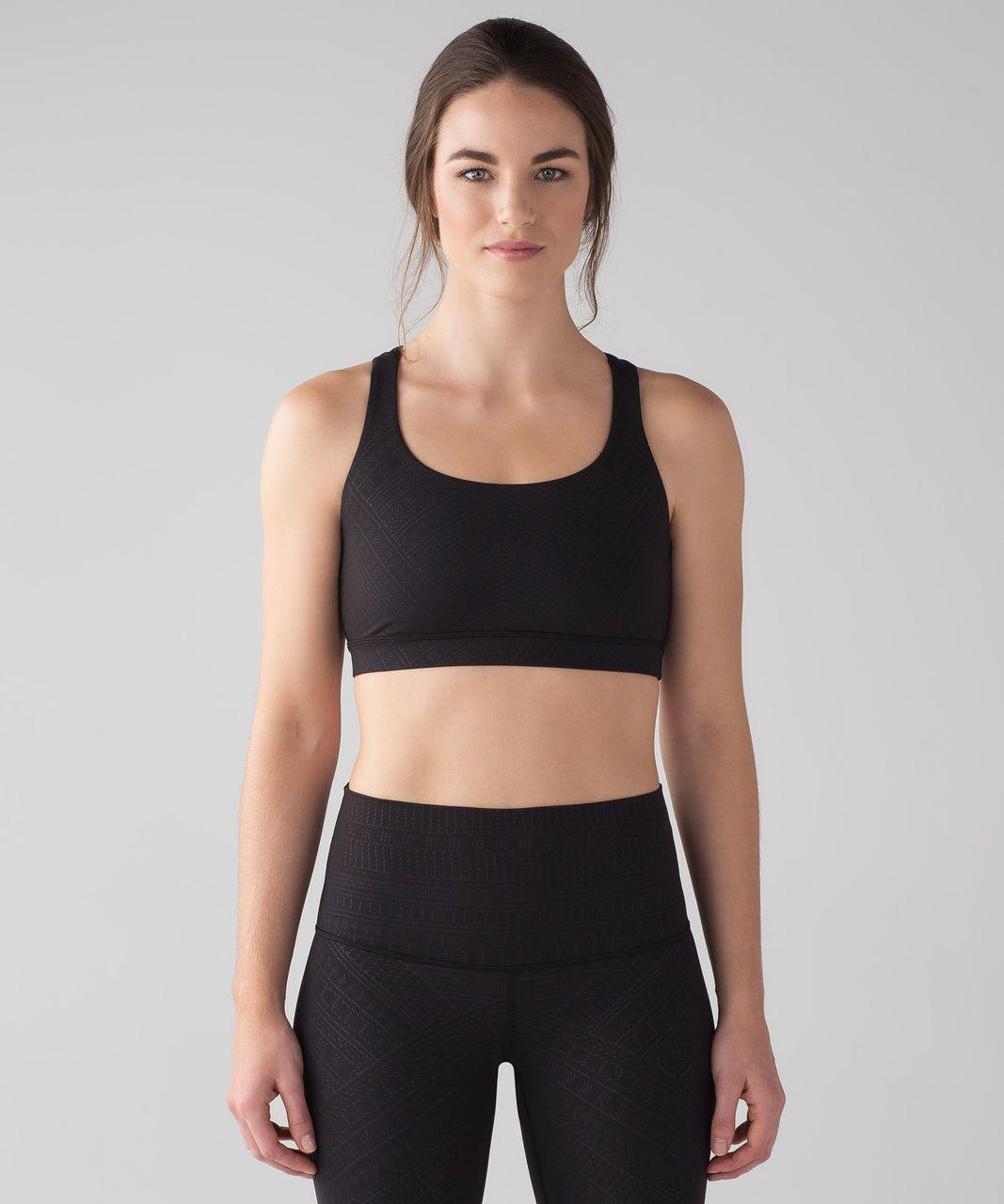Lululemon Energy Bra - Adorned Emboss Energy Bra Black