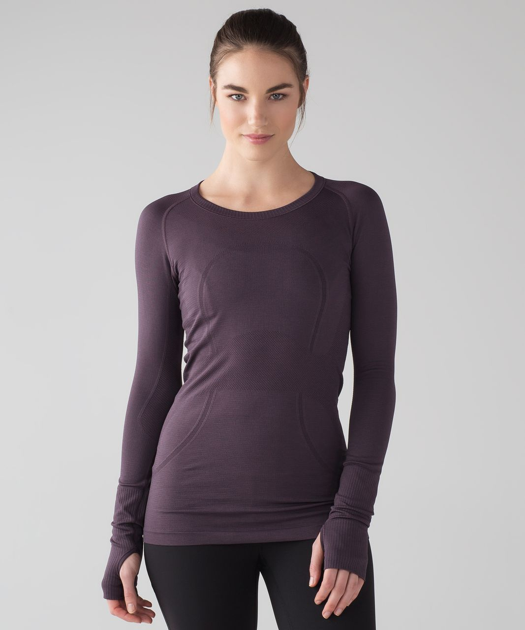Lululemon Swiftly Tech Long Sleeve Crew - Black Currant / Black Currant