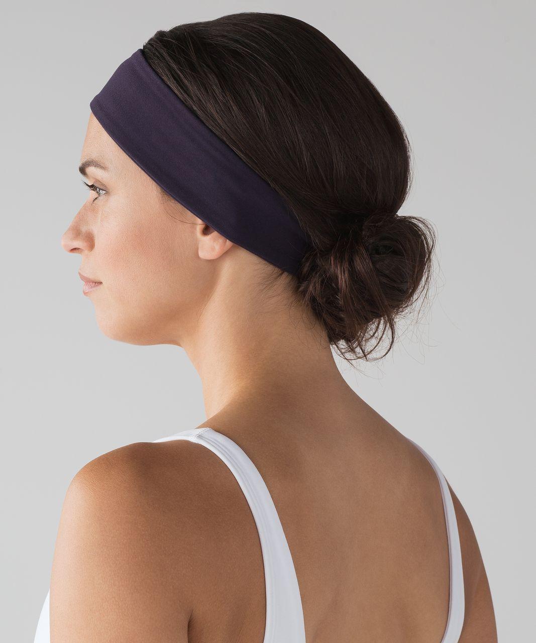 Lululemon Fly Away Tamer Headband II - Black Grape