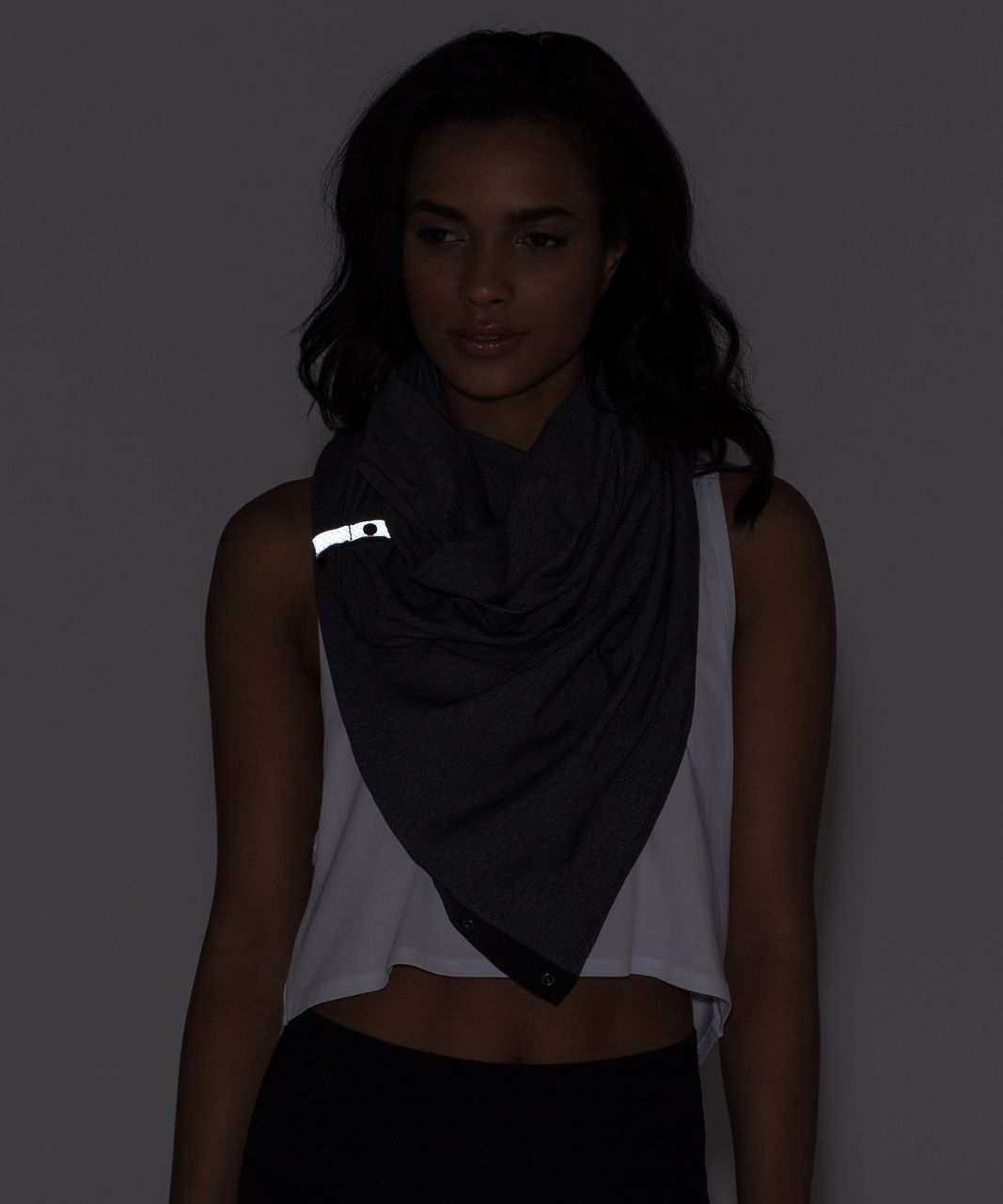 Lululemon Vinyasa Scarf *Rulu - Wee Stripe Black Heathered Slate / Black