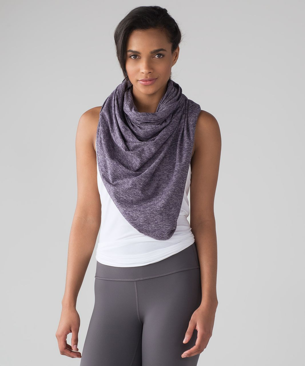 Lululemon Vinyasa Scarf (Rulu) - Heathered Black Grape