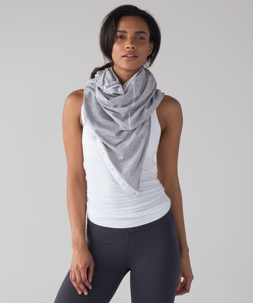 lululemon vinyasa scarf rulu tonka stripe heathered
