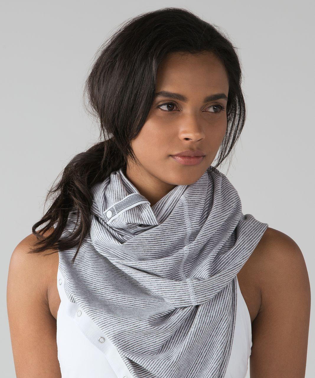 Lululemon Vinyasa Scarf *Rulu - Tonka Stripe Heathered Slate White