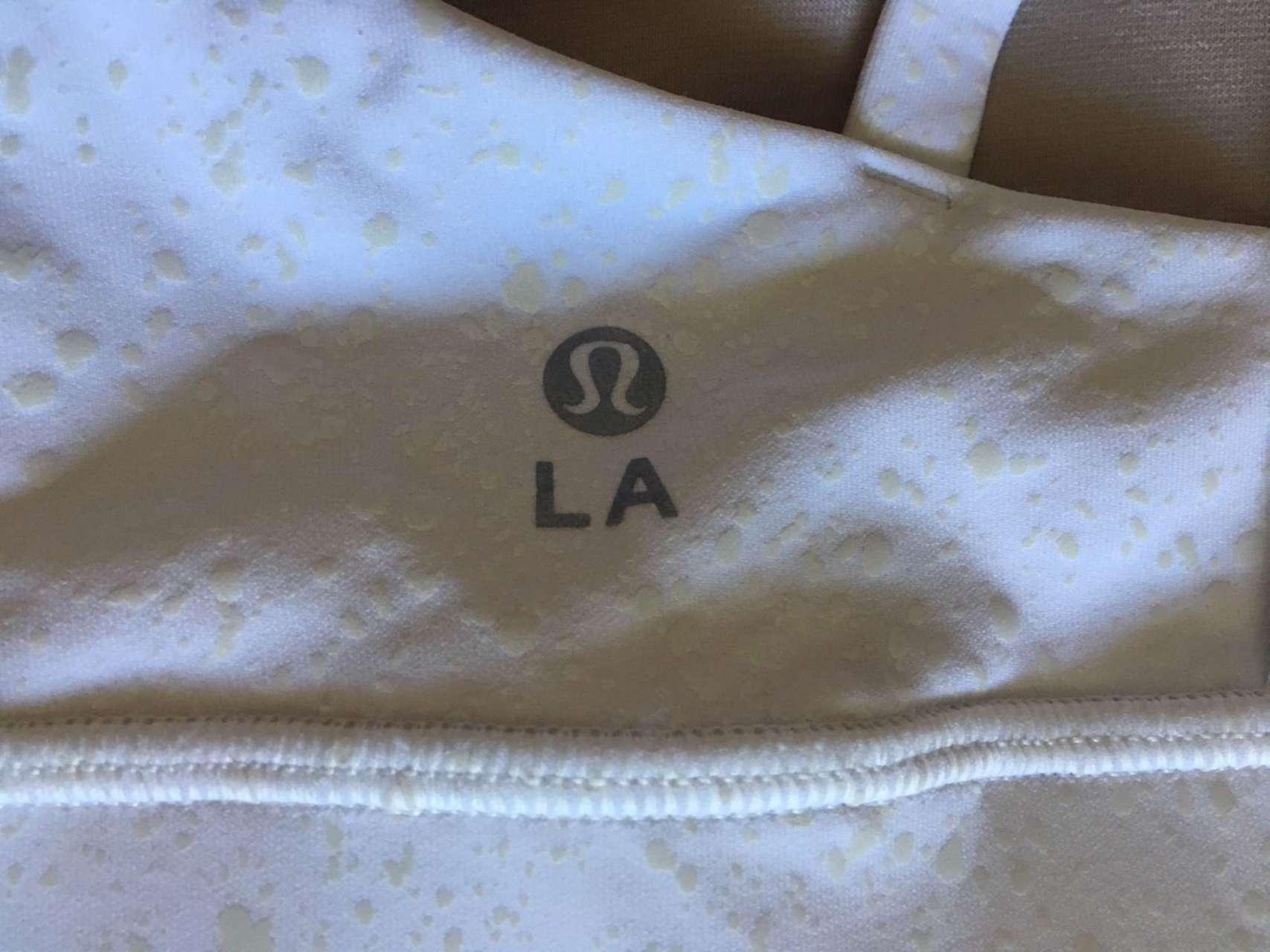 Lululemon Energy Bra *Splatter - White