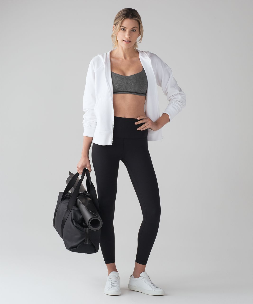 Lululemon Free To Be Bra - Heathered Black / Black