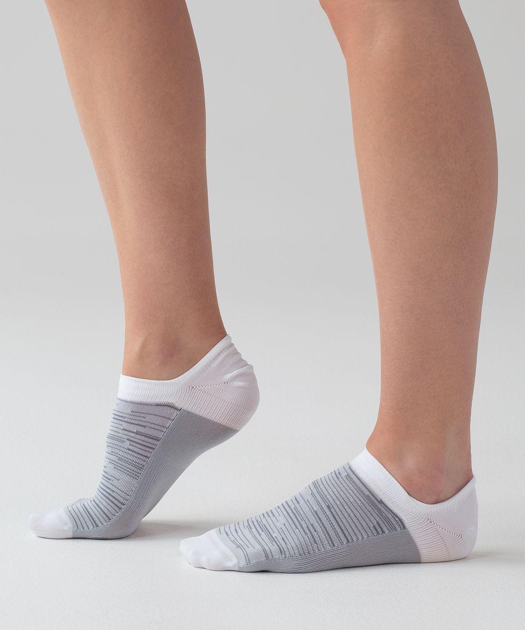 Lululemon Play All Day Sock - Hail / White