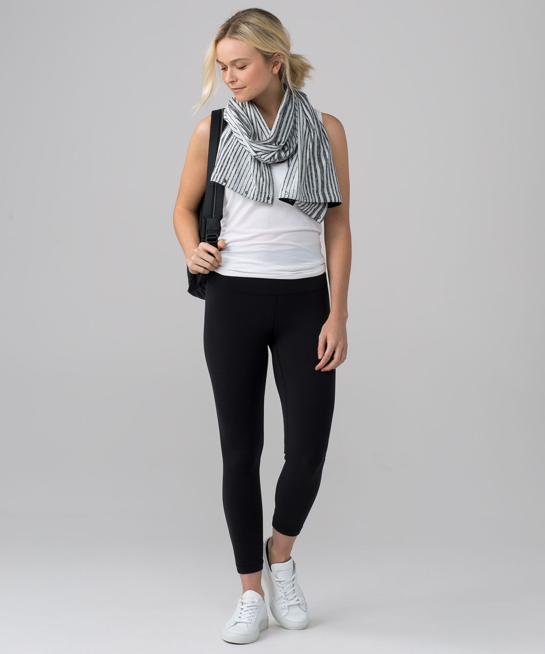 Lululemon Vinyasa Scarf *Rulu - Mini Akido Stripe Heathered Black Heathered Silver Spoon