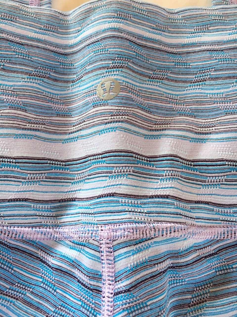Lululemon Wunder Under Pant Hi-Rise - Space Dye Wave Twist Lilac Caspian Blue