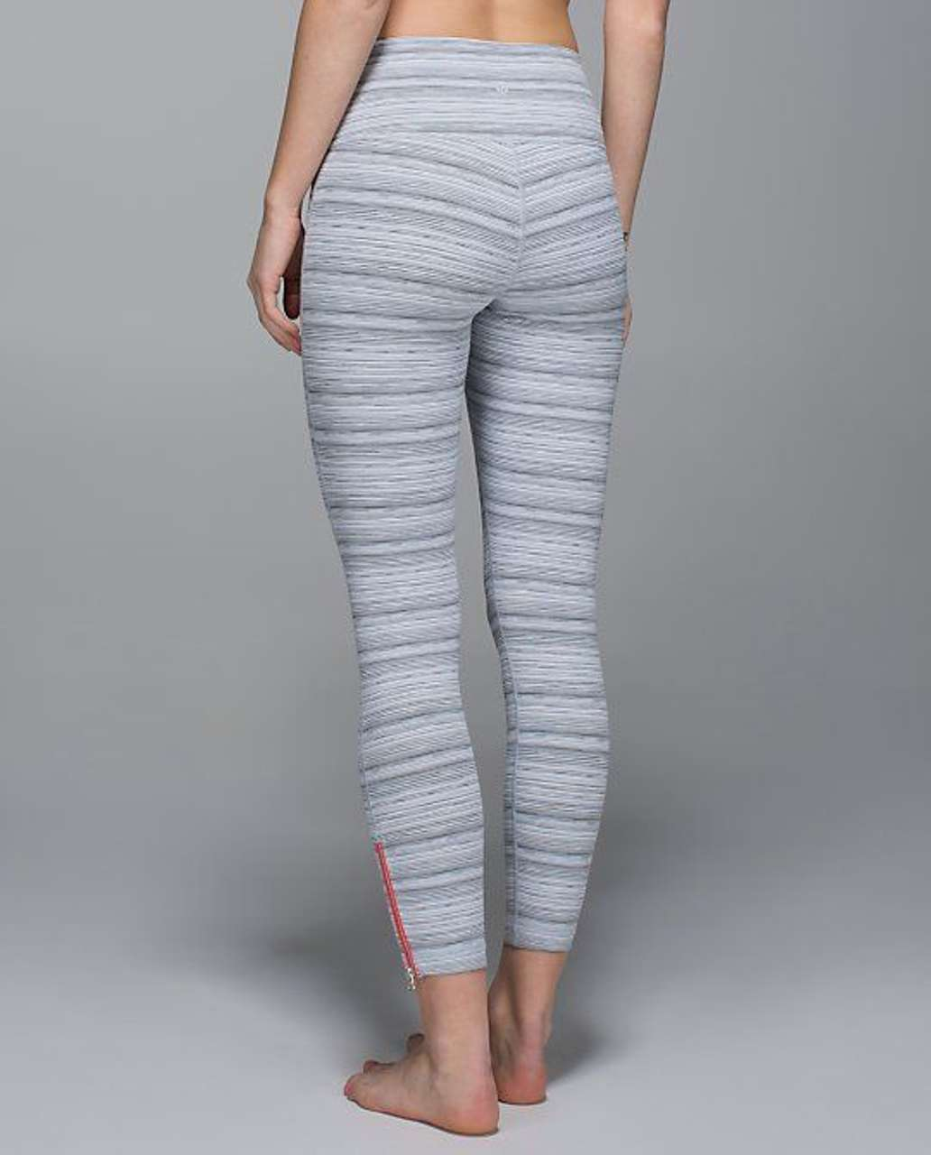 Lululemon High Times Pant *Zip - Cyber Stripe White / Silver Fox / Flare