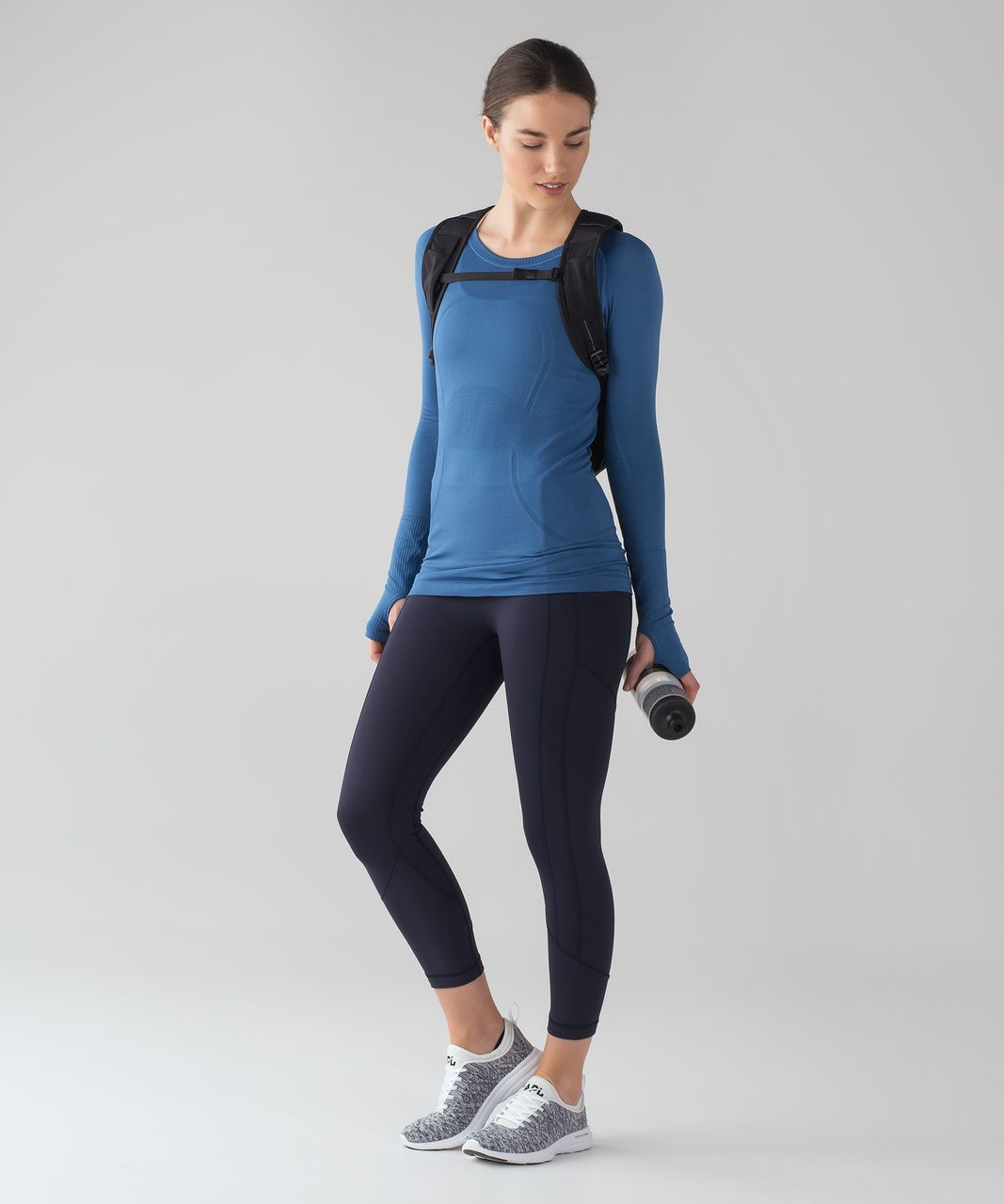 Lululemon Swiftly Tech Long Sleeve Crew - Royal / Royal