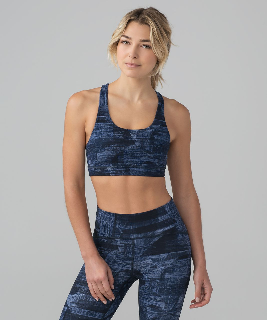 Lululemon Invigorate Bra - Transition Multi Midnight Navy