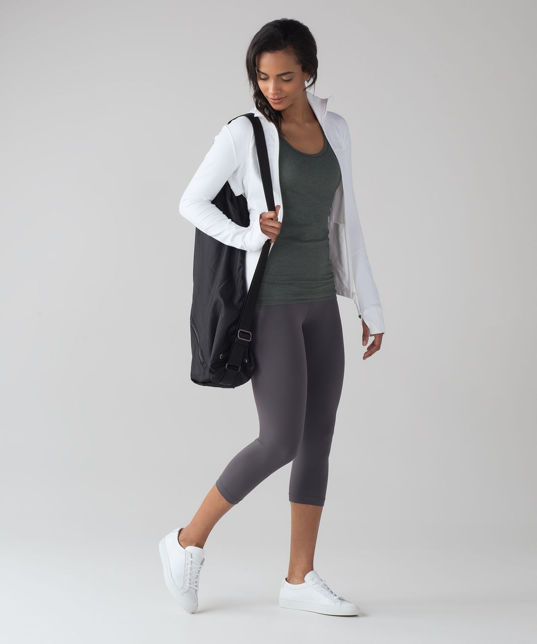 Lululemon Ebb To Street Tank (Light Support For B/C Cup) - Dark Forest