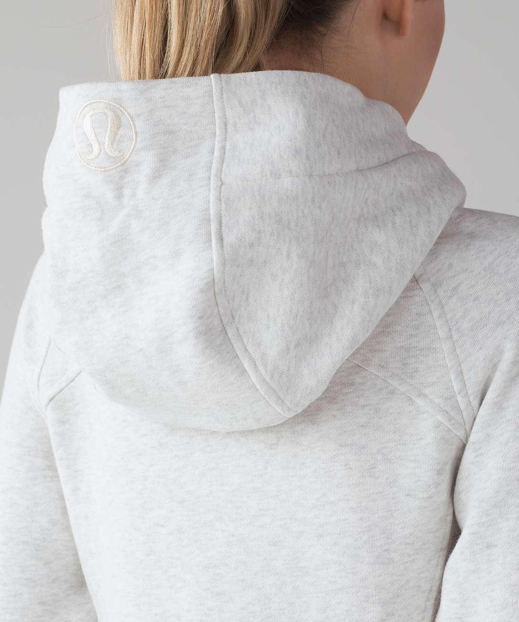 Lululemon Scuba Hoodie *Light Cotton Fleece - Heathered White (First Release)