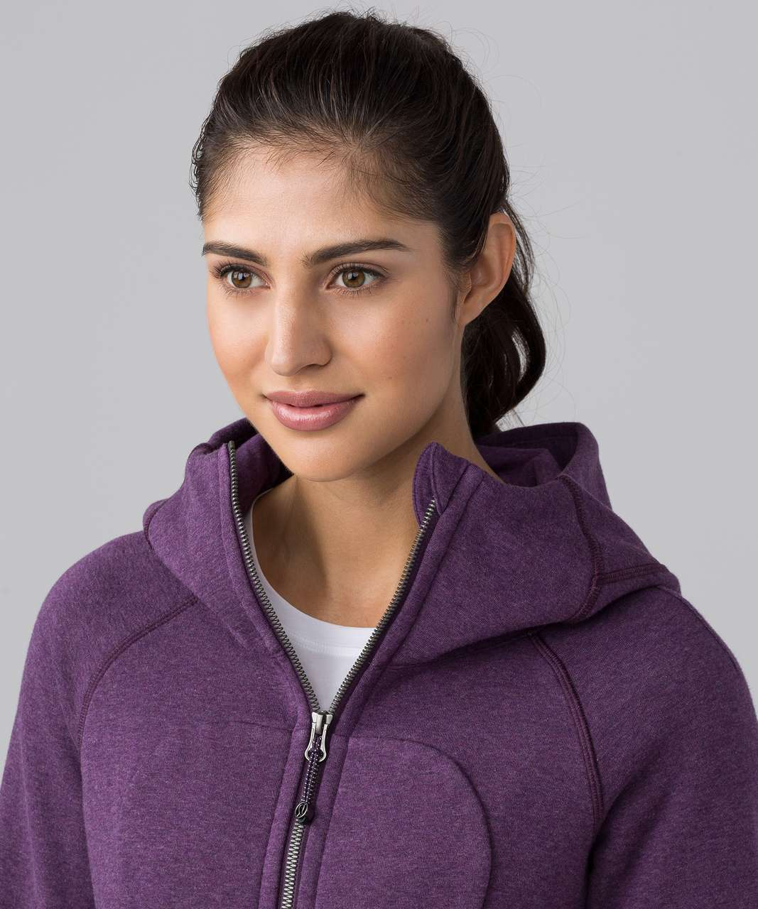 Lululemon Scuba Hoodie *Classic Cotton Fleece - Heathered Darkest Magenta