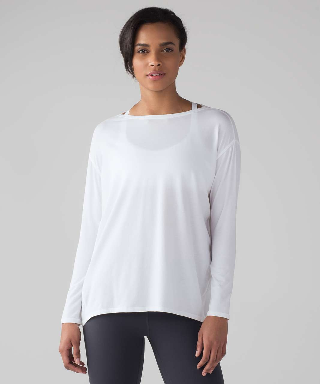 Lululemon Back In Action Long Sleeve - White (First Release)