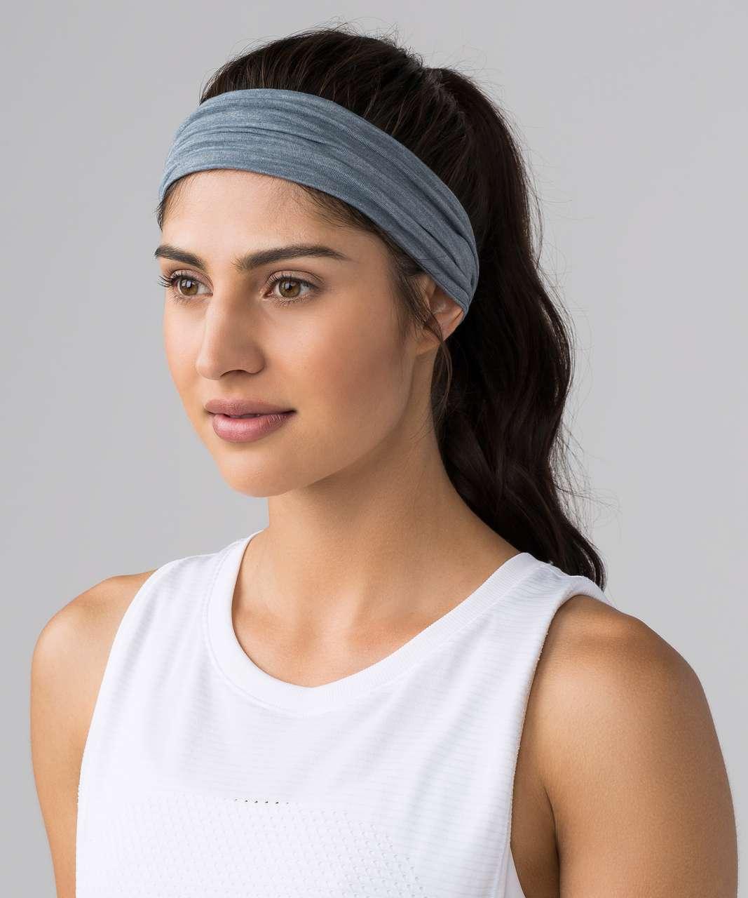 Lululemon Fringe Fighter Headband - Heathered Sterling / Heathered Sterling