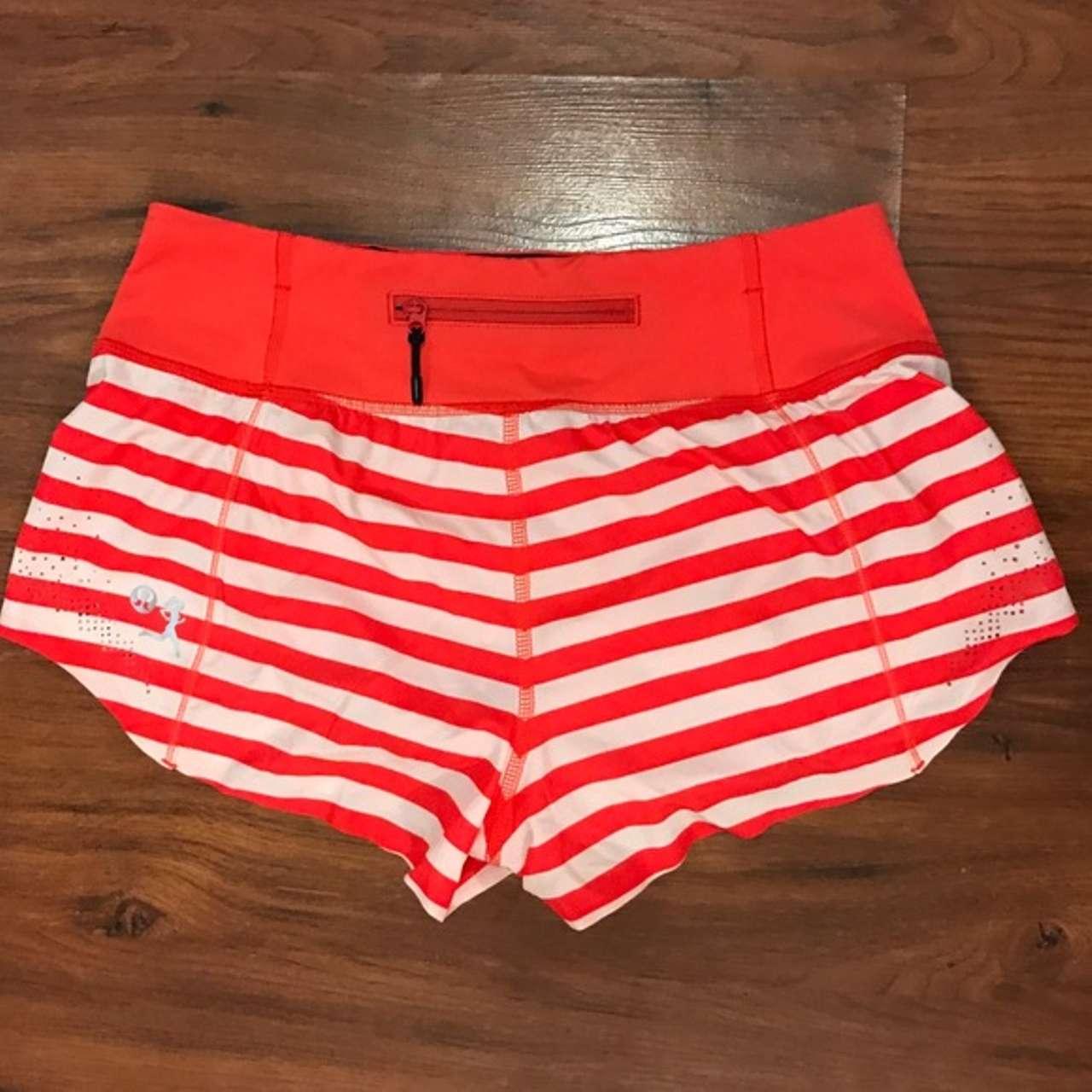 Lululemon Run: Light As Air Short - 2012 Seawheeze - Fearless Red Waldo Stripe