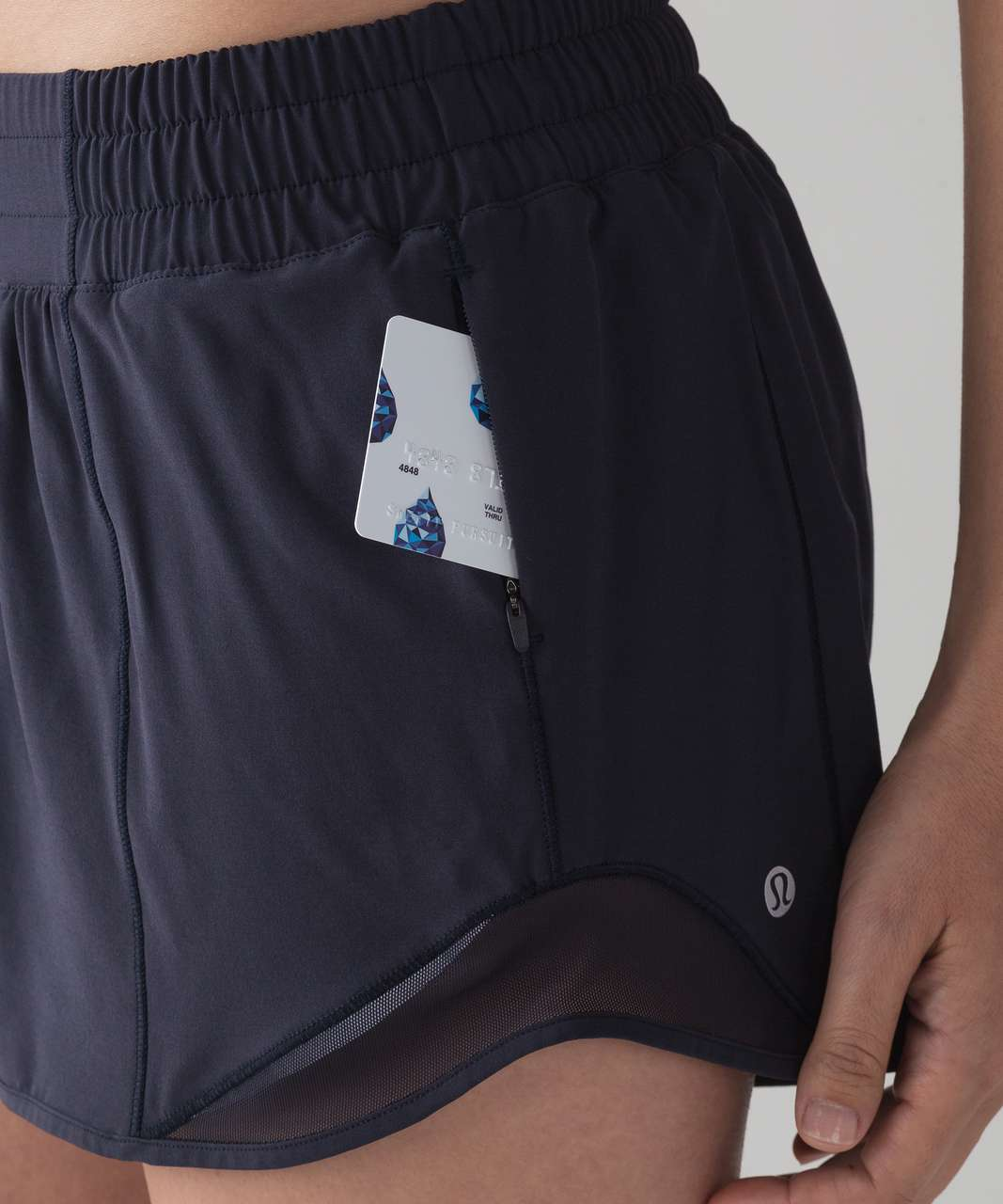 "Lululemon Hotty Hot Short II *Long 4"" - Midnight Navy"