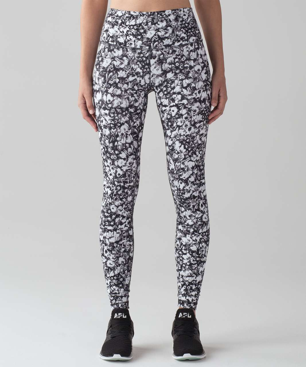 "Lululemon Wunder Under Hi-Rise Tight (Full-On Luxtreme 28"") - Mash Up White Black"