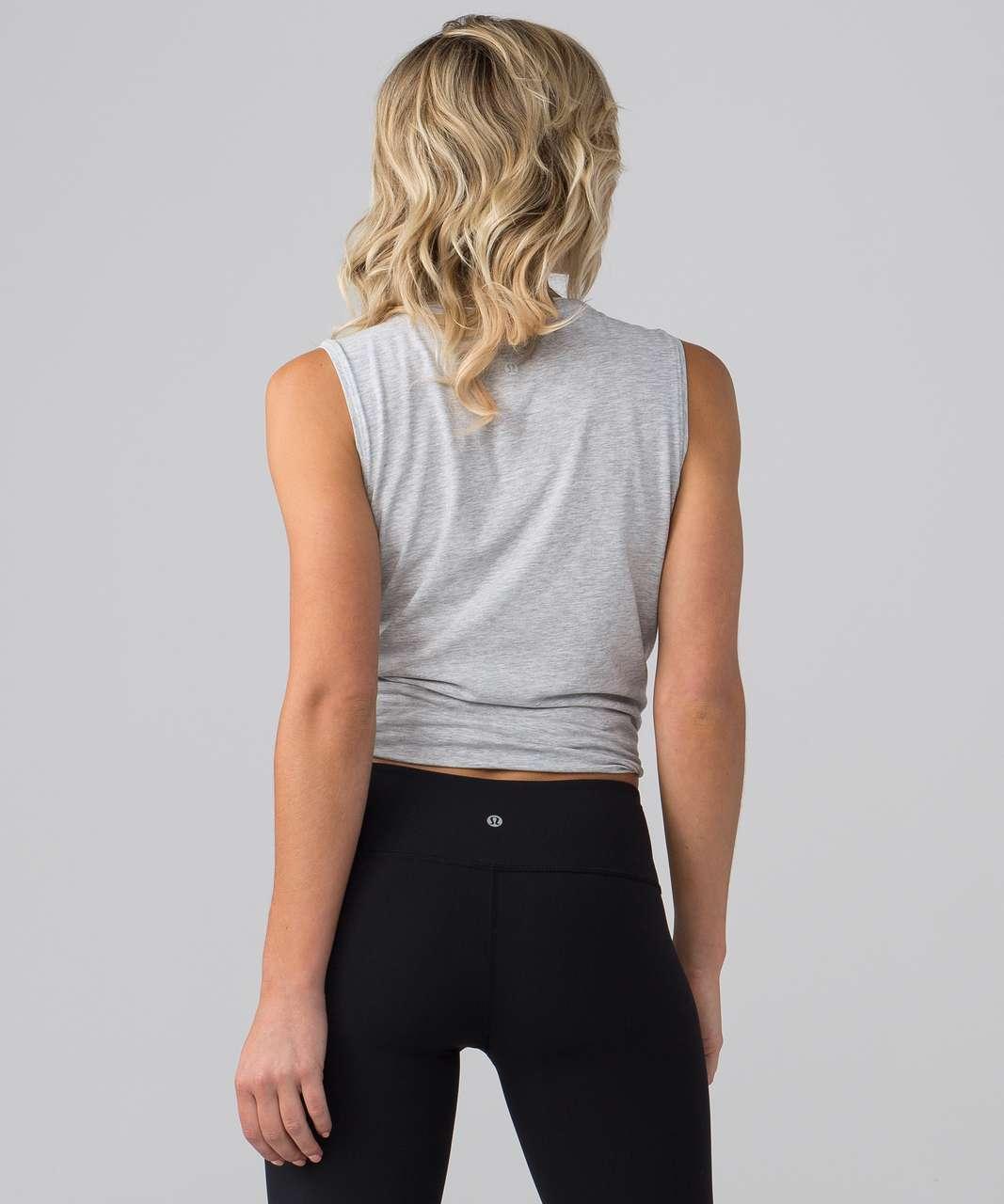 Lululemon Love Sleeveless Tank (This Is Yoga) - Heathered Vapor