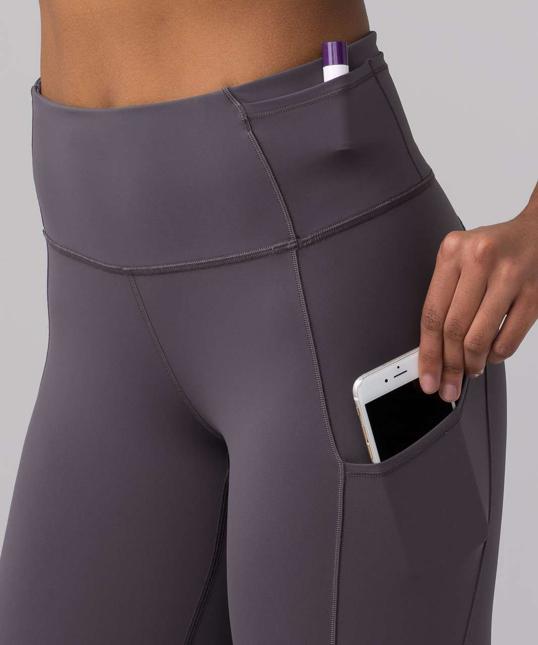 """Lululemon Fast & Free 7/8 Tight II *Nulux 25"""" - Dark Carbon (First Release)"""