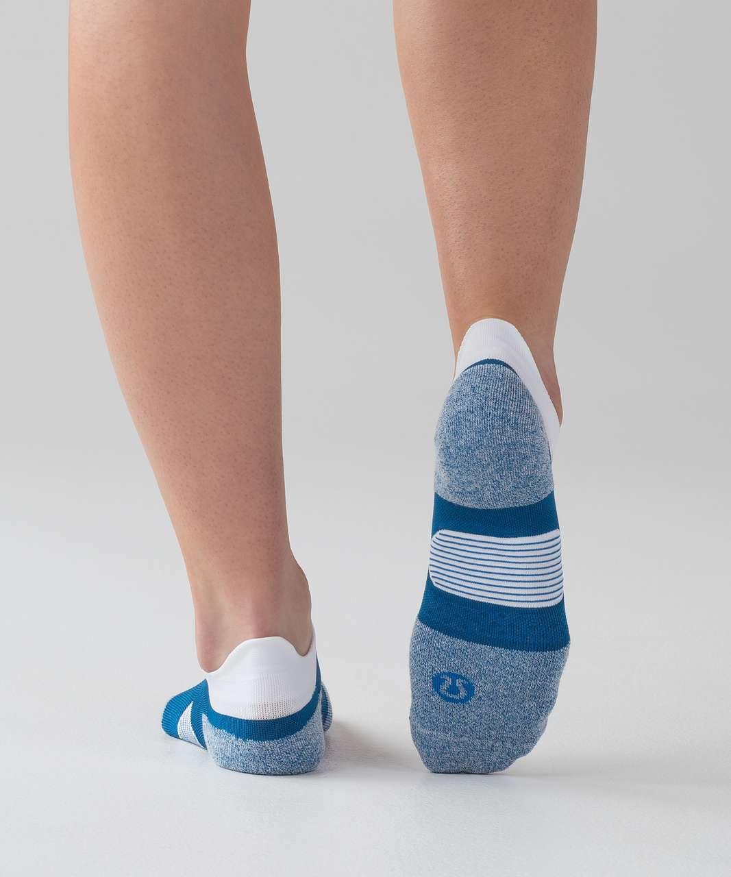 Lululemon Speed Sock *Silver - Whirlpool / White