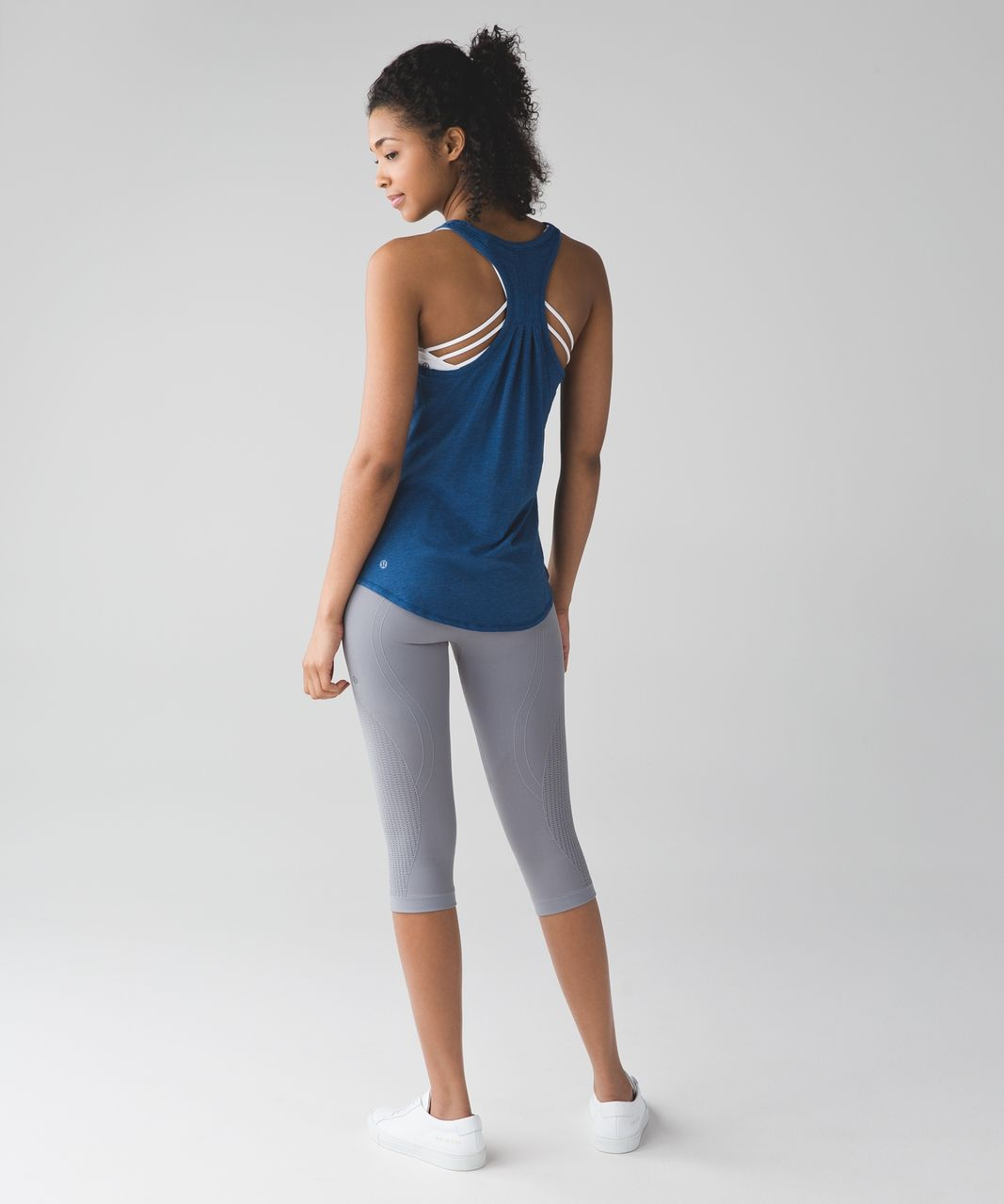 Lululemon Yogi Everyday Tank - Heathered Rugged Blue
