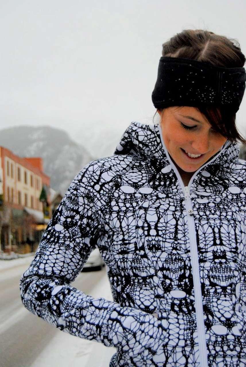 Lululemon Scuba Hoodie - White Black Glacier Lace