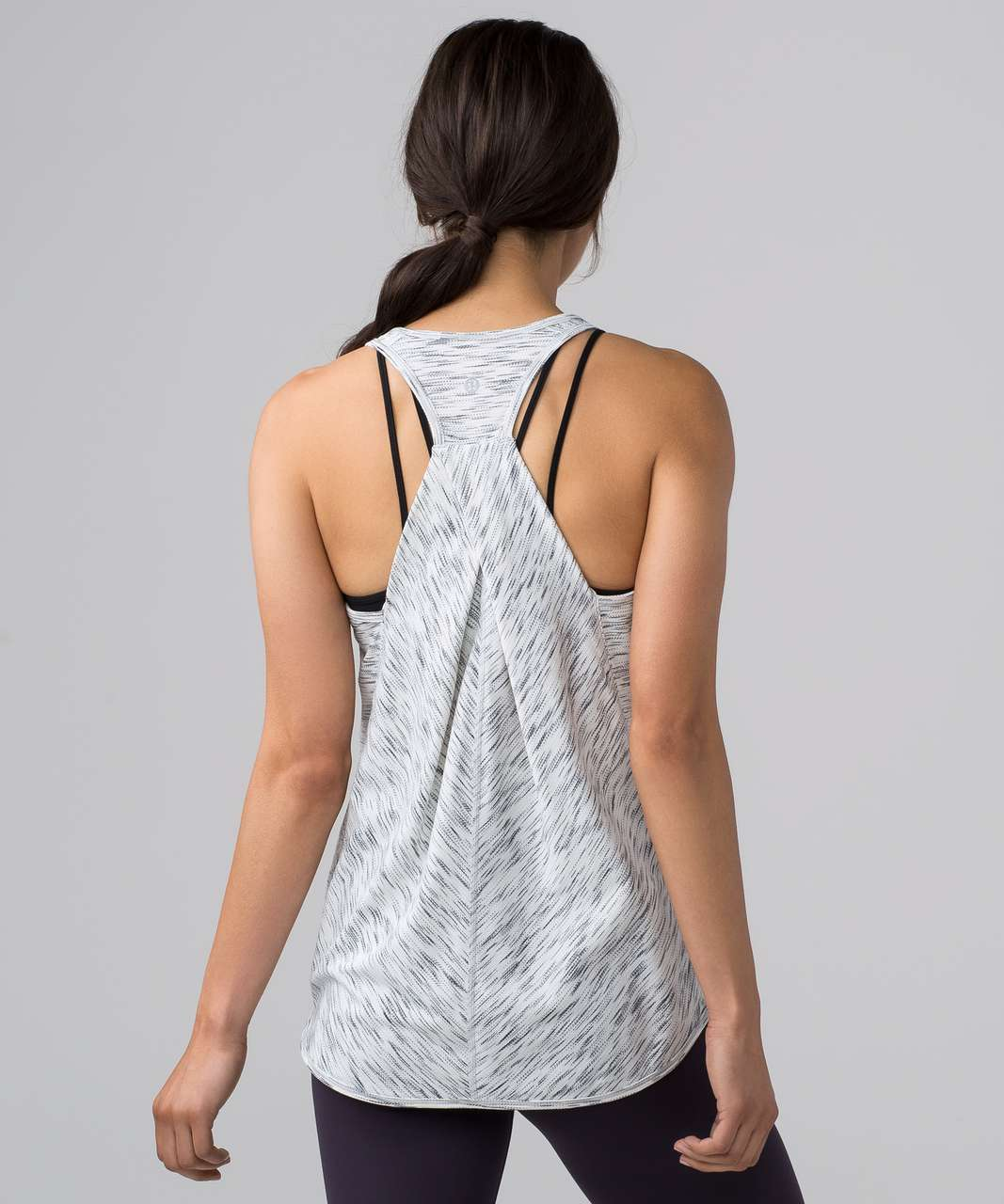 Lululemon Essential Tank - Tiger Space Dye Black White (First Release)