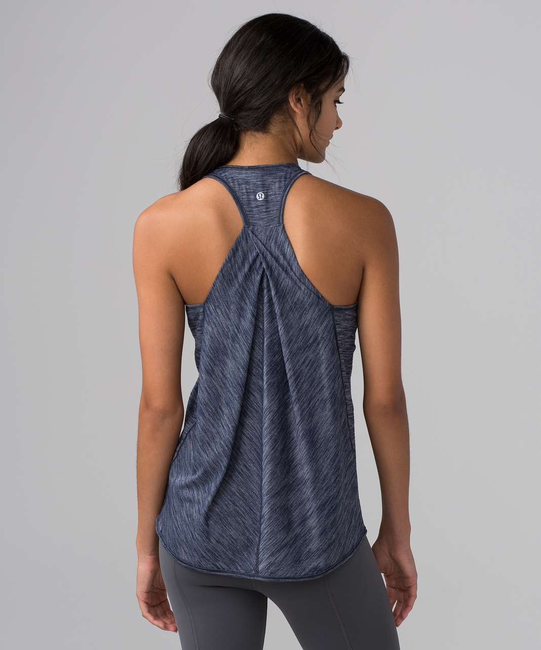 8a3f29fe858420 Lululemon Essential Tank - Heathered Deep Navy - lulu fanatics