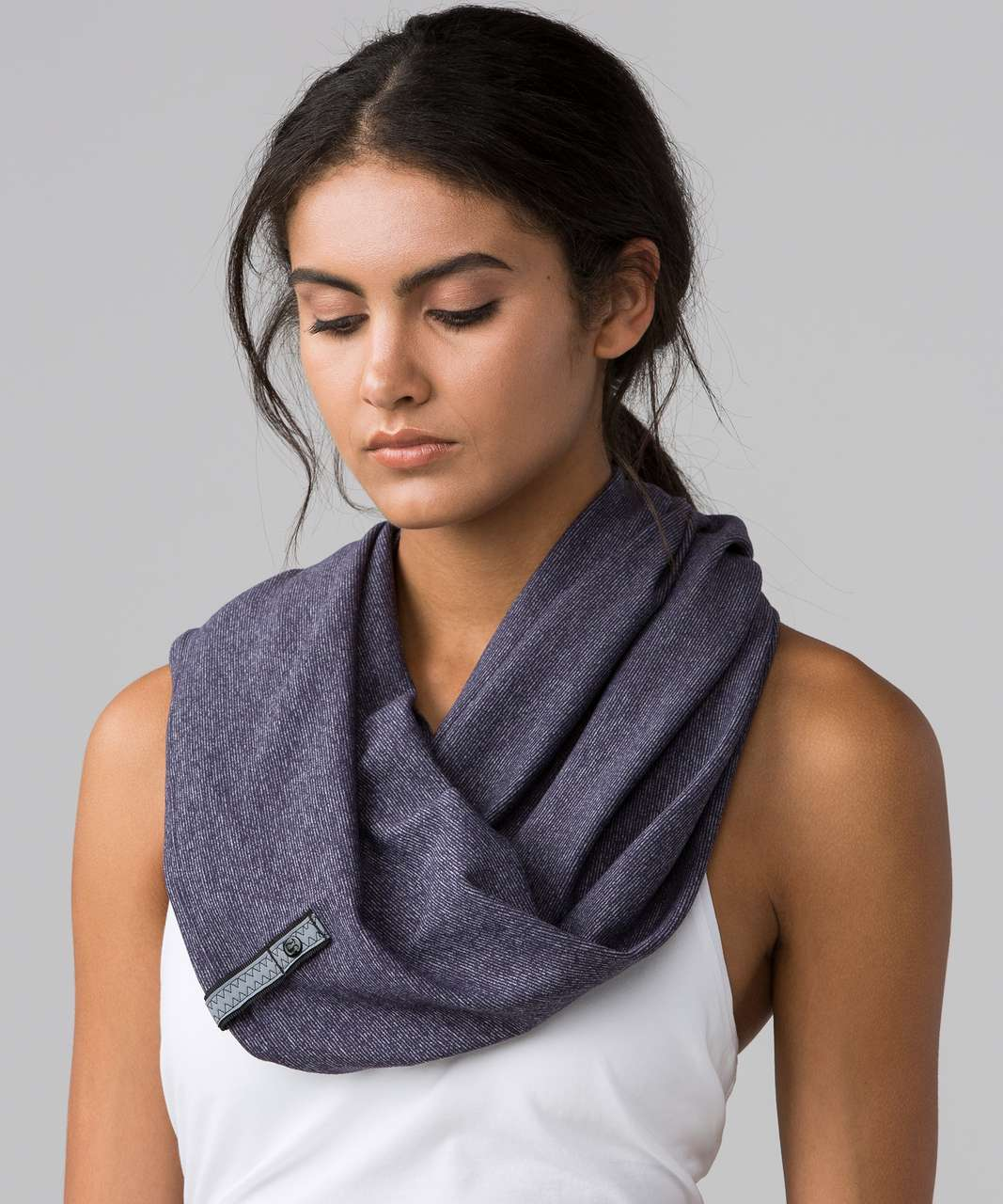 Lululemon Vinyasa Scarf (Rulu) - Wee Stripe Black Grape Heathered Black Grape / Black Grape