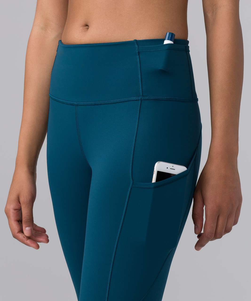 "Lululemon Fast & Free 7/8 Tight II *Nulux 25"" - Nile Blue"
