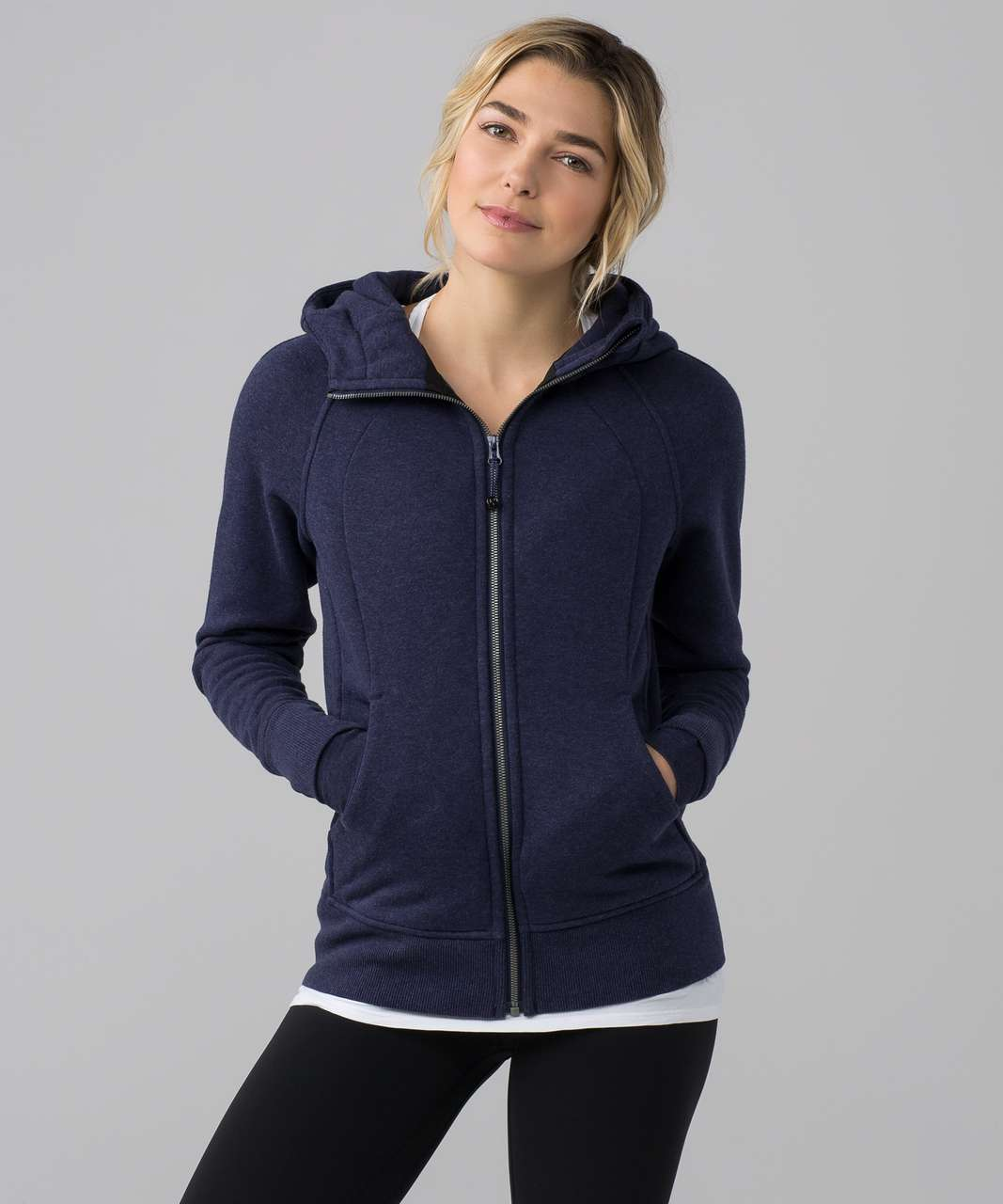 Lululemon Scuba Hoodie Iii Storage Heathered Deep